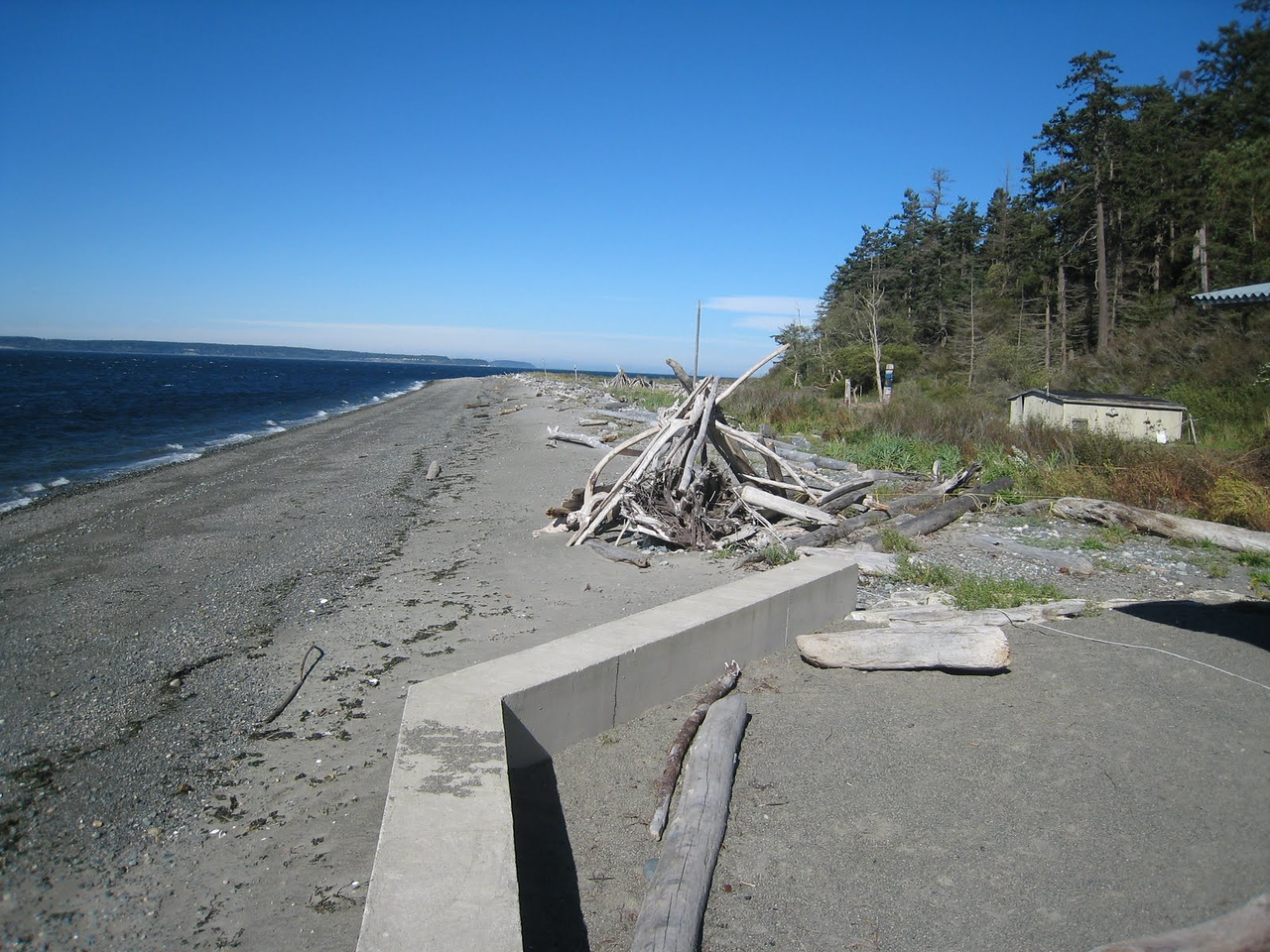 Beach in front of our Whidbey Island house