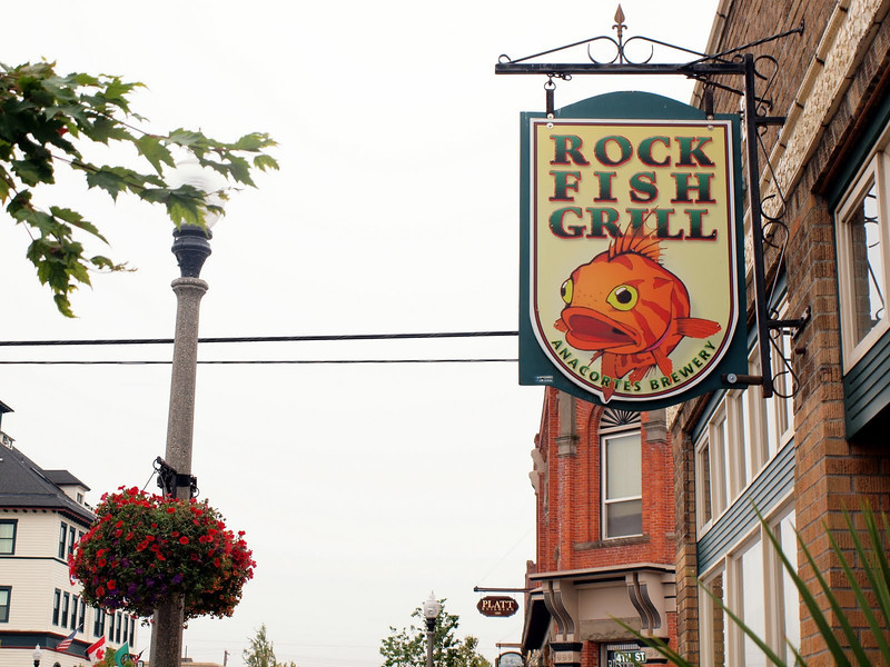 Day two - pub lunch at the Rock Fish Grill on our way to ferry in Anacortes