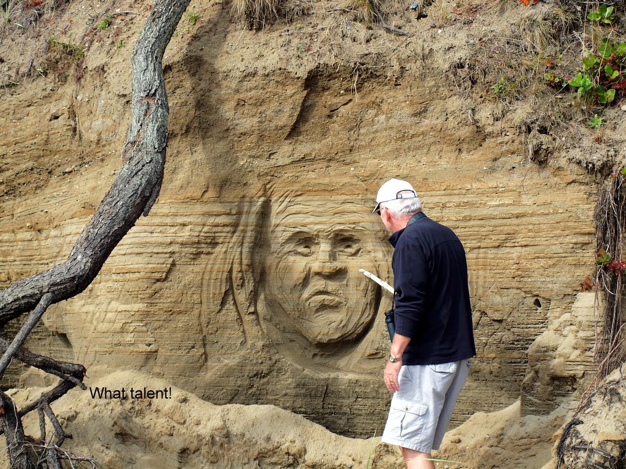 Cool art along the beach!