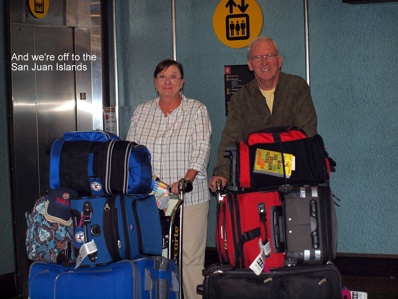 Yes, it looks like lots of luggage, but we did bring a lot of our own food, spices, and Mike even brought his electric griddle!
