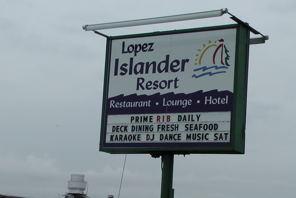Pub lunch on day 3 - Lopez Islander Restaurant