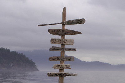 """Sign on the """"Private Beach"""" on Lopez Island"""