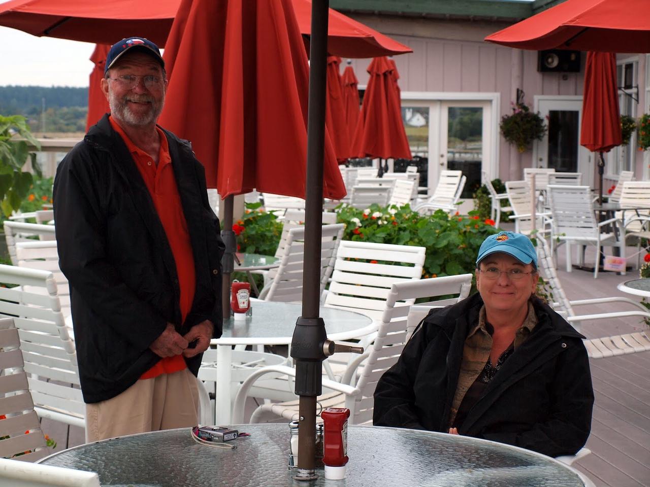David and Cindy - Lunch at Lopez Islander restaurant
