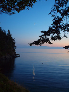 Sunset and the moon - Anacortes