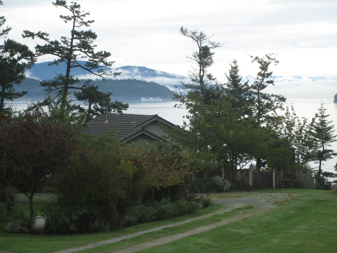 View from the porch of the Lopez house