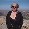 Nancy overlooking Lake Elsinore on Ortega Highway - 18 Feb 2012