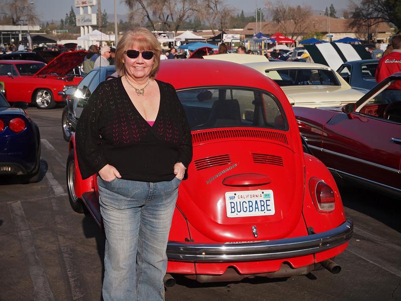 Nancy my Bug Babe at Supercar Sunday in Thousand Oaks - 26 Feb 2012
