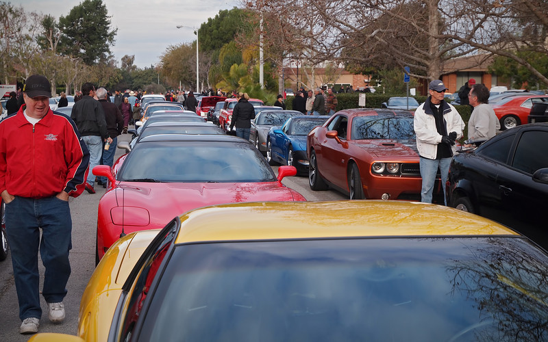 Cars lining up for the Tour D'Orange - 1 Jan 2013