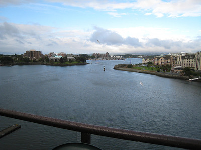 This is a view from our balcony at the Victoria Regent.
