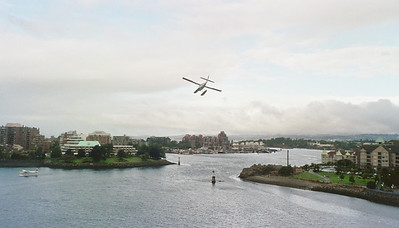 It was pretty cool - sea planes were approaching from right over the hotel and then would land in the harbor. It was a blast to watch them.
