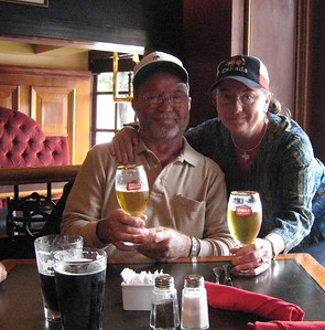 David and me - lunch at the Sticky Wicket Pub