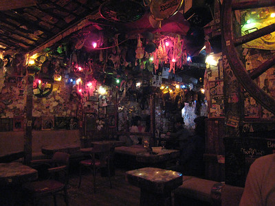 The inside of Big Bad John's Bar - an interesting place!