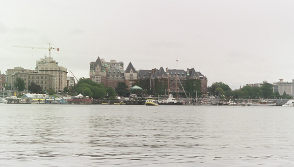 This is the Empress Hotel from the harbor.