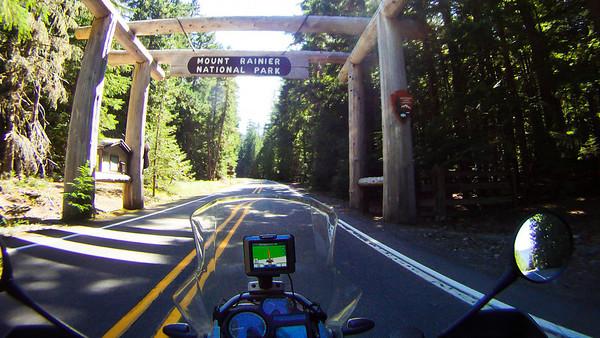 Entering Mt. Rainier National Park