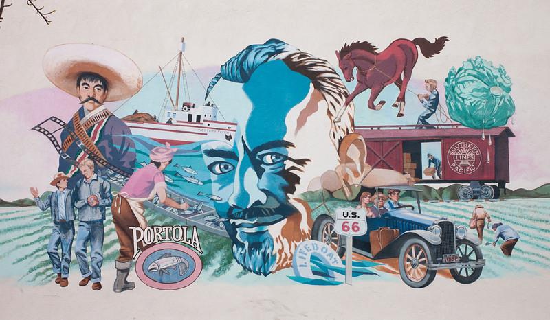 Mural near the Steinbeck Center, Salinas