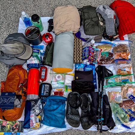 WCT hiking gear