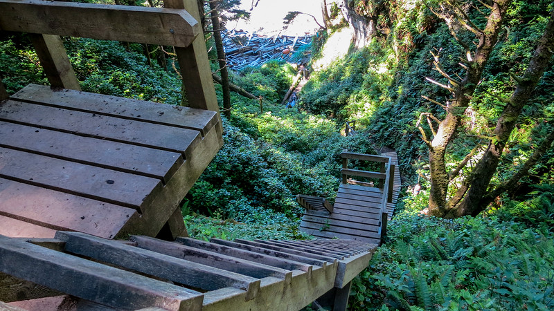 Ladder system down to Tsusiet Falls