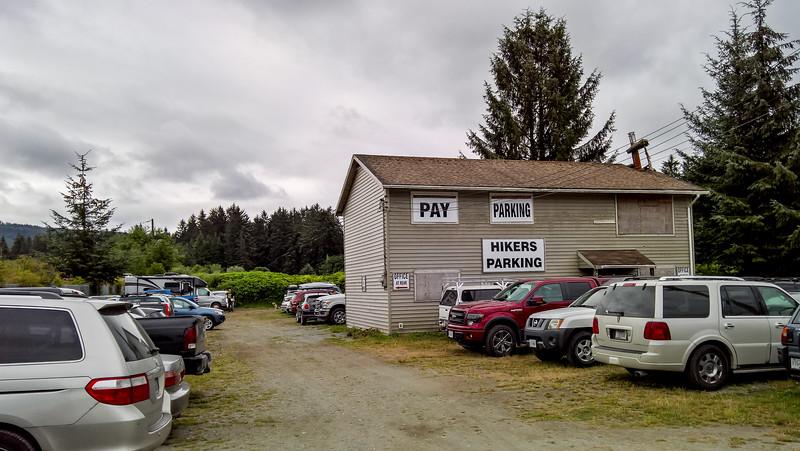 Park the bike at Evan's in Gordon River