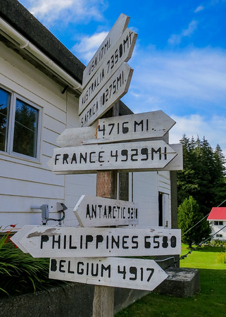 Signpost at Pachena Lighthouse