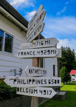 Signpost at Pachena Lighthouse