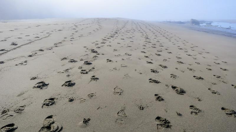 Sand tracks outside Bonilla CG