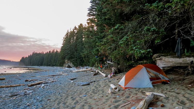 Tent side at Orange Juice Creek