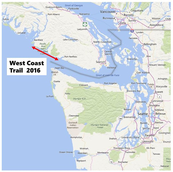 West Coast Trail area map