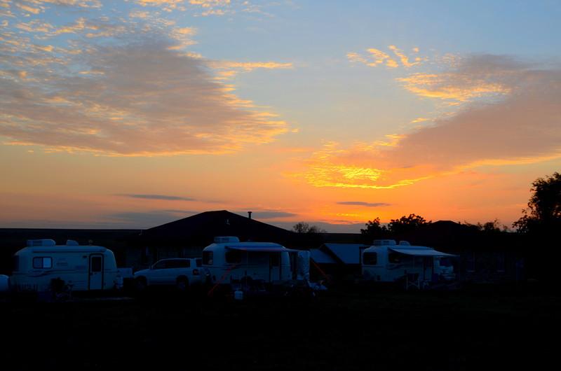 Sunrise at Camp Wood