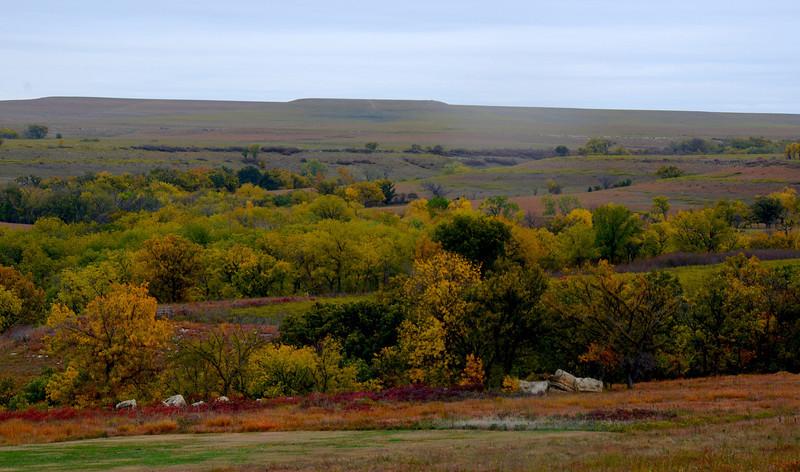 Fall color enhances distant landscapes at Camp Wood