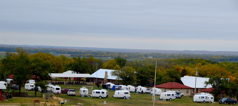 Gathering of Casitas at Camp Wood in the scenic Flint Hills.