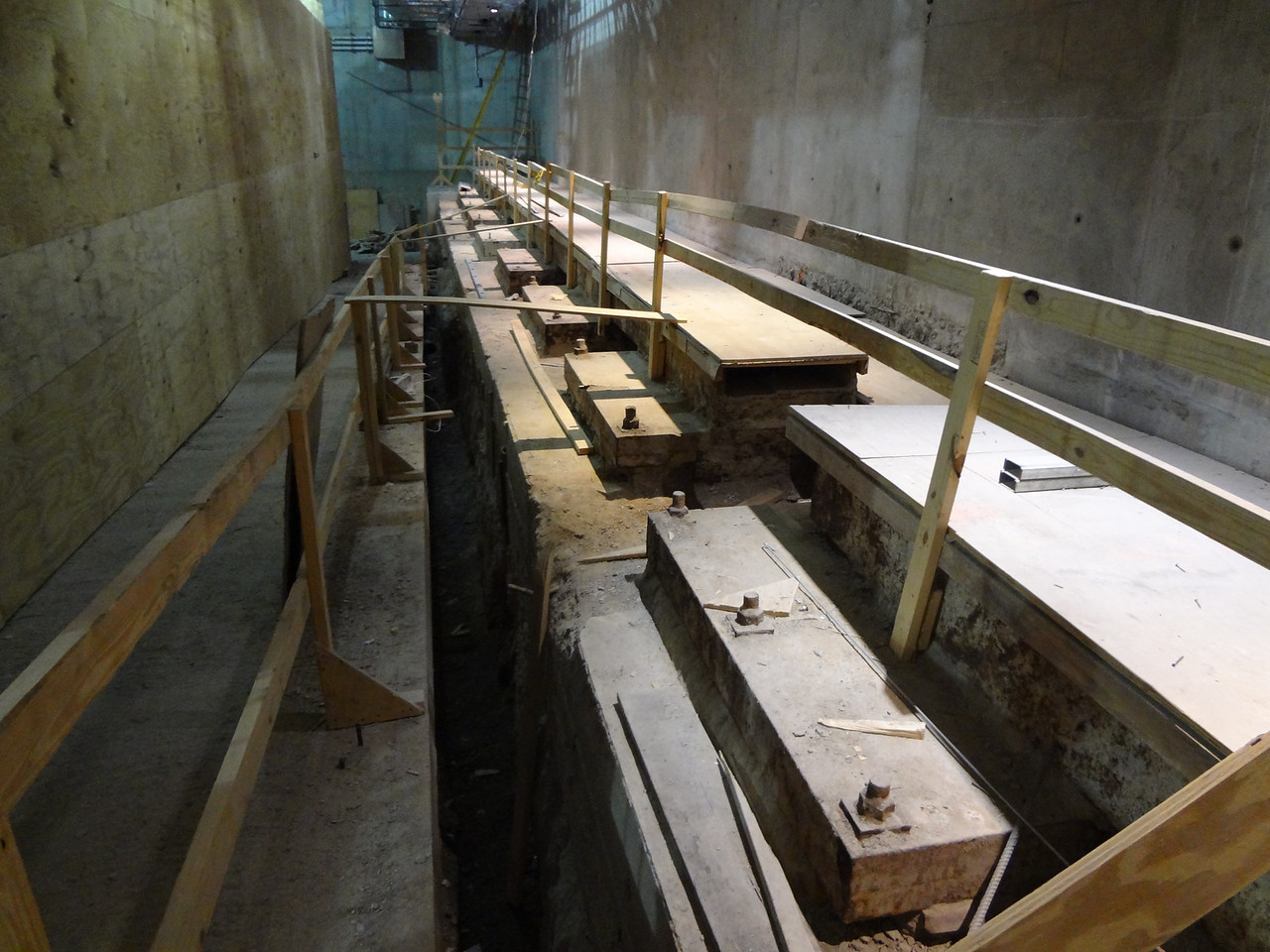 More original parts of the foundation from the World Trade Center South Tower.