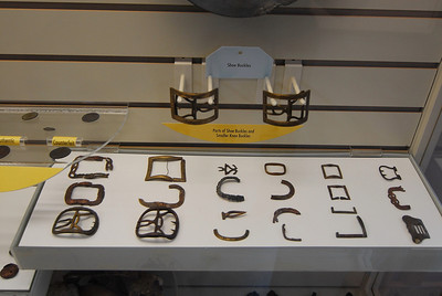 Parts of shoe buckles found on site of Fort Montgomery.