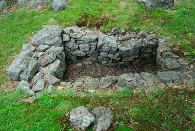 Soldier's Necessary, a.k.a. outhouse (what's left of it), that was built at the fort in April 1776.