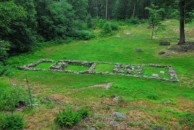 This is the foundation of another barracks, built in the summer of 1776.