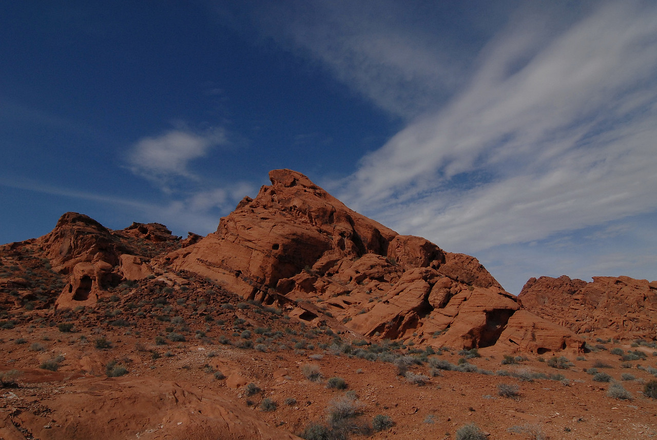 In Valley of Fire State Park, outside of Las Vegas.