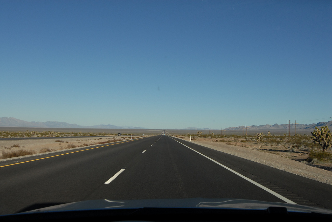 Road on way to Pahrump. Try not to speed.