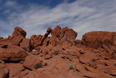In Valley of Fire State Park, outside of Las Vegas. This is called Elephant Rock - see it?