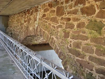 Durham's stone arch bridge built in 1823, that's still under the current bridge. Read more about this bridge in the next photo.