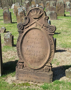 Beautiful detail on the gravestone of Captain Nathanael Sutlief.