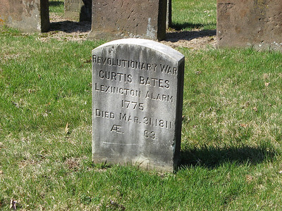 Curtis Bates was apparently involved in the battle at Lexington on April 19, 1775. He would have been 27 years old at the time.