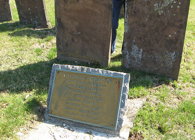 This is Elias Austin's grave. He was the Father of Moses Austin and Grandfather of Stephen Austin, who founded the first Anglo-American colony in Texas (Austin, TX).
