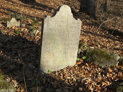 A long forgotten cemetery, the Symmes Burying Ground, lies in the woods just north of the Van Campen Inn. This is the gravestone of Anna Symmes, who died July 25, 1776 - the same month that America declared our independence from Great Britain. She was the mother-in-law of William Henry Harrison, the ninth President of the United States.