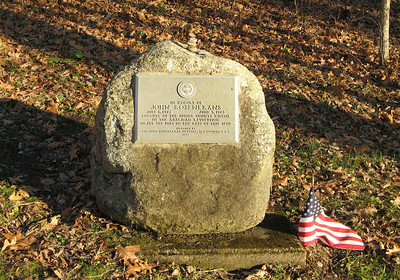 Memorial for John Rosenkrans, who served as a captain in the local militia during the French & Indian War and as a colonel in the Revolutionary War.