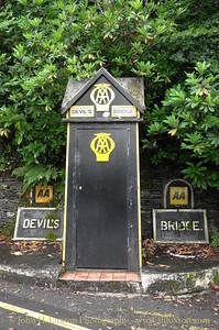 Automobile Association AA Box 289 - Devil's Bridge - Pontarfynach - Ceredigion, Wales, August 06, 2014