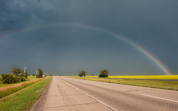 The Trans-Canada Highway in Saskatchewan. July, 2012.