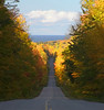 This road had a riot of color pointing to Lake Superior.  2006.