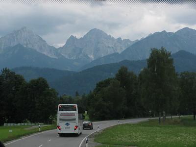 Driving South towards Neuschwanstein
