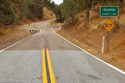 Alameda County line on Mines Road