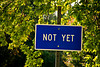 """Not Yet"" Sign, Wright County, Iowa"