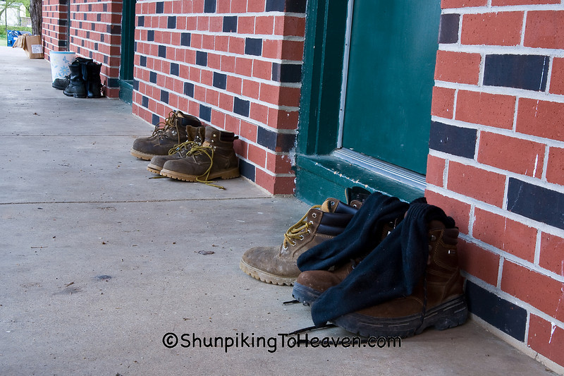 Shoes of Turkey Hunters at the End of the Day, Shannon County, Missouri